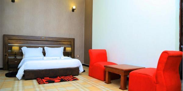 Abegaz Hotelにあるベッド