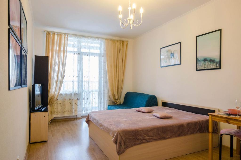 Кровать или кровати в номере Apartment in Baltic Pearl