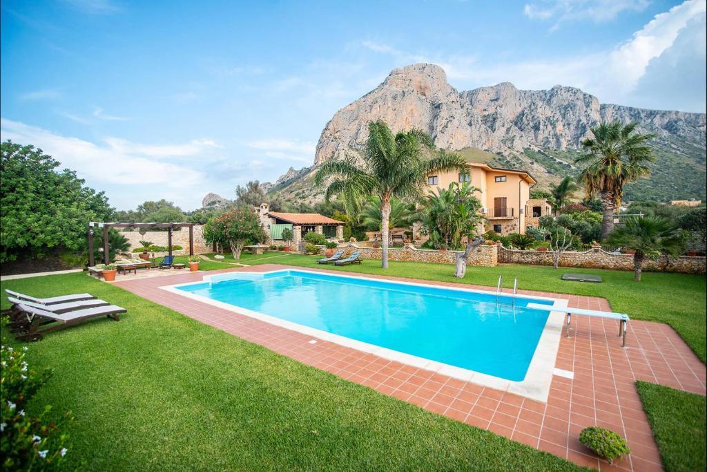 The swimming pool at or near Villa Trinacria