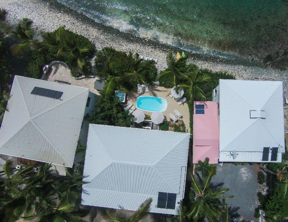 A bird's-eye view of Coconut Coast Villas