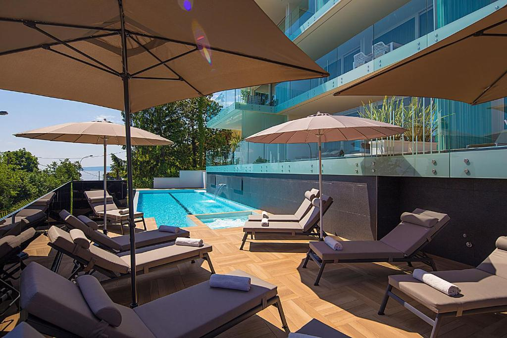 The swimming pool at or close to Deluxe Apartments Opatija