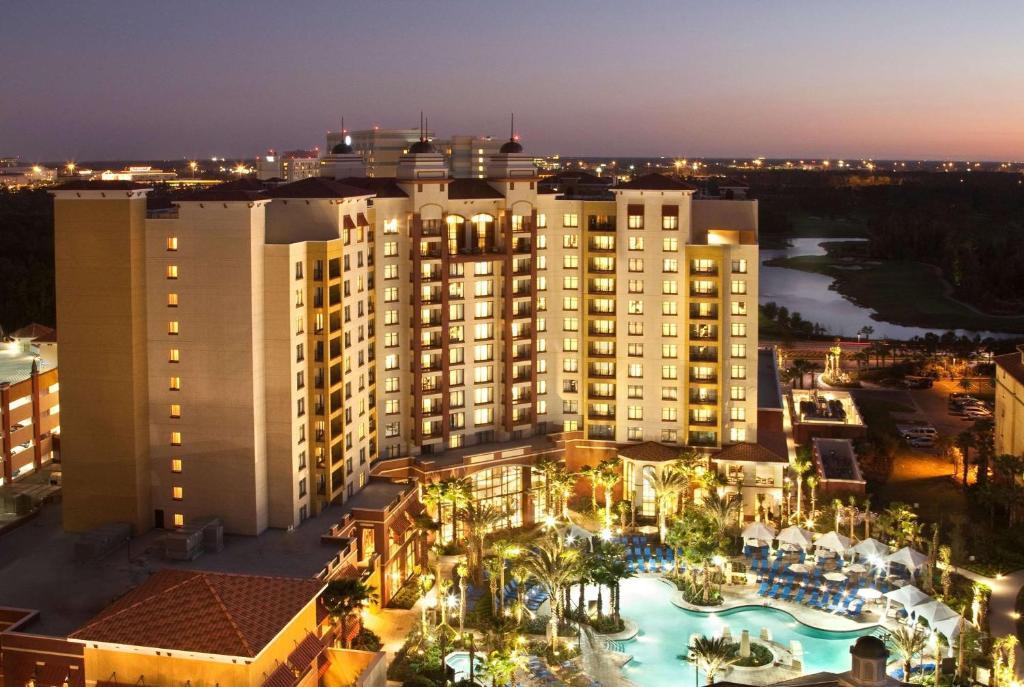 A bird's-eye view of Wyndham Grand Orlando Resort Bonnet Creek