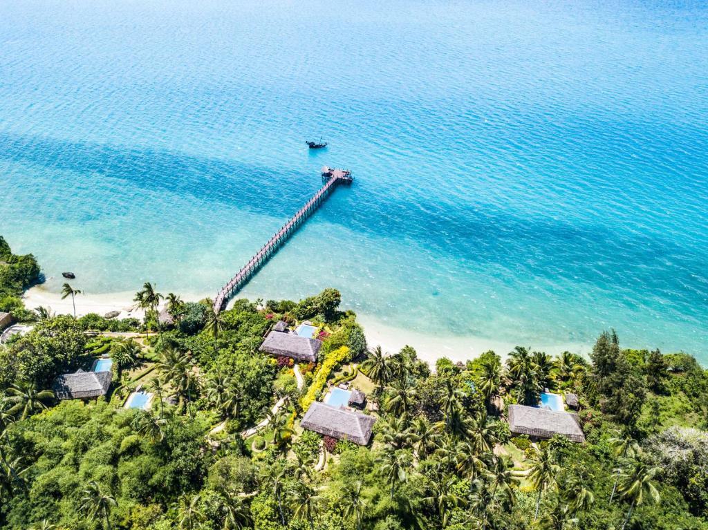 A bird's-eye view of Zanzi Resort