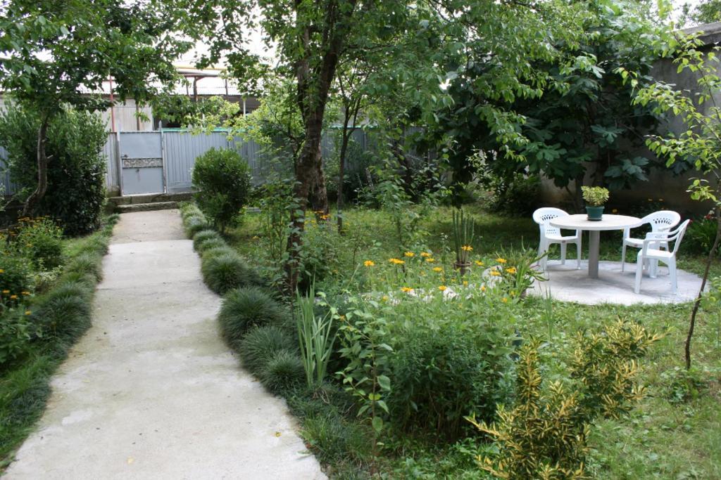 A garden outside Guesthouse Gegi