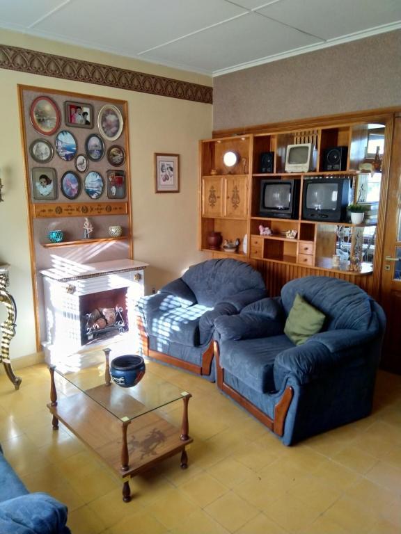 A seating area at La casa de Aya