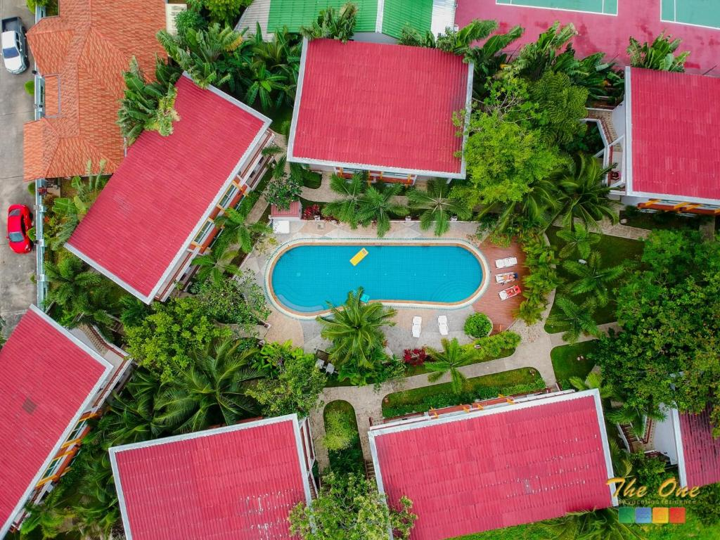 A bird's-eye view of The One Cozy Vacation Residence