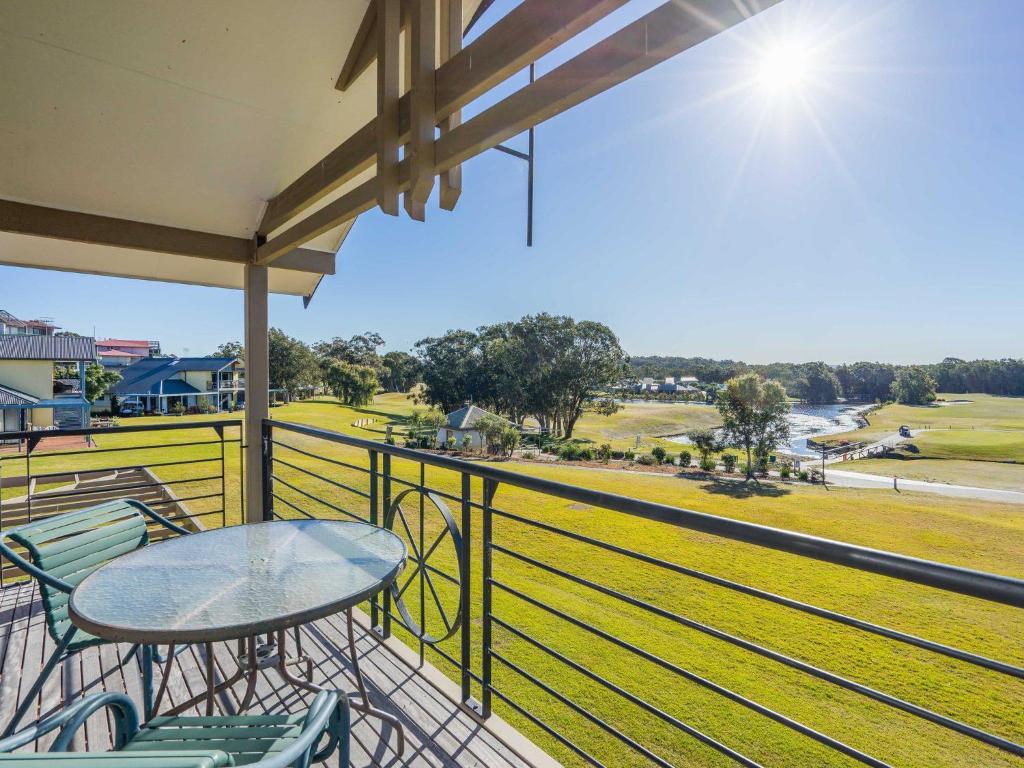 A balcony or terrace at Condo 108 @ Horizons Resort & Golf, stunning course + lake Views