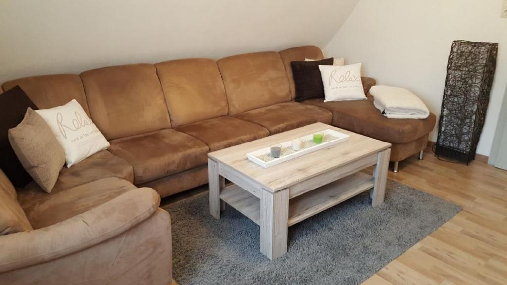 Ein Sitzbereich in der Unterkunft Gästehaus Neumarkt