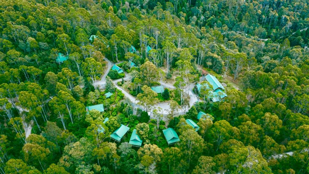 A bird's-eye view of Lemonthyme Wilderness Retreat