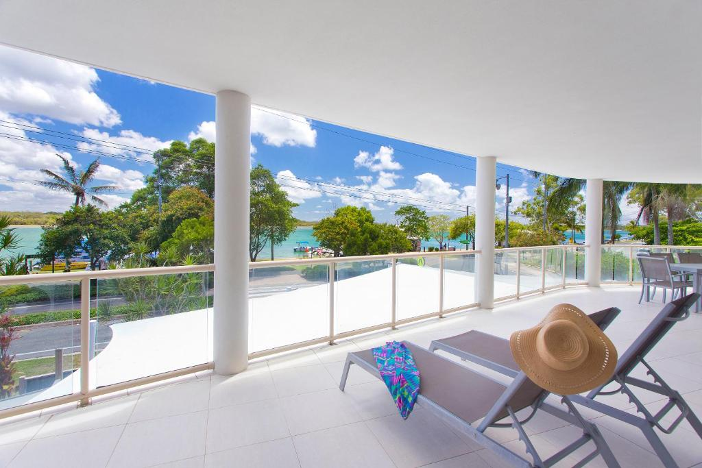 A balcony or terrace at Offshore Noosa Resort