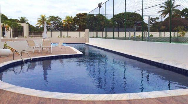 The swimming pool at or close to Apt alto padrão todo mobiliado e decorado em cond. Fechado