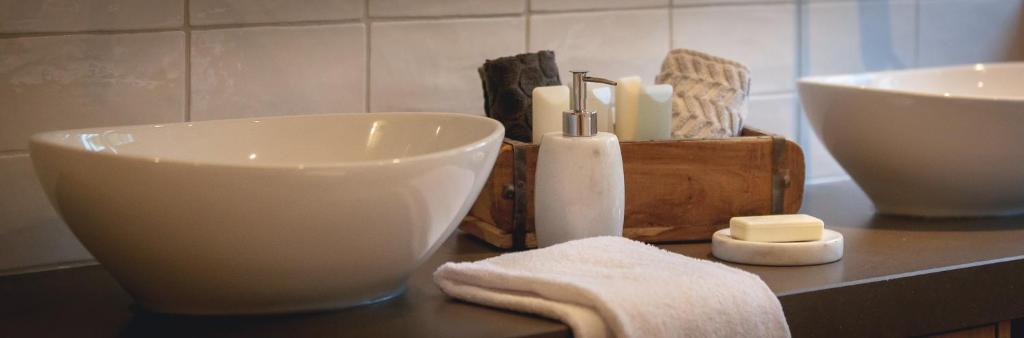 Een badkamer bij Logement 't Voorhuysch