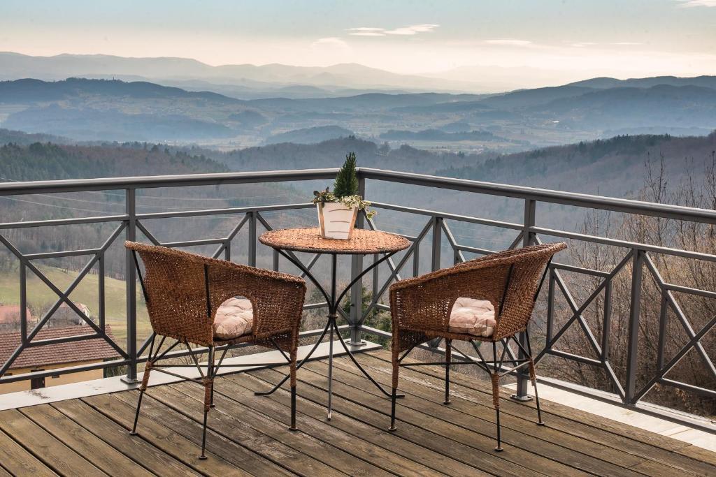 Balkon oz. terasa v nastanitvi Luxury Holiday Home Zupan