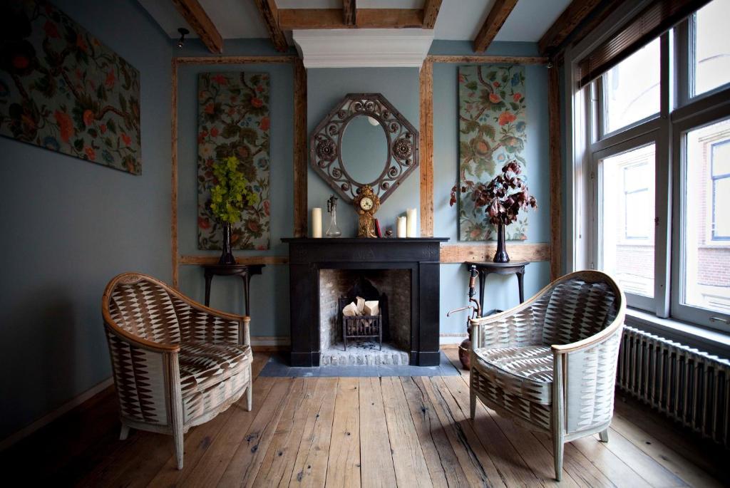 Een zitgedeelte bij Private Mansions