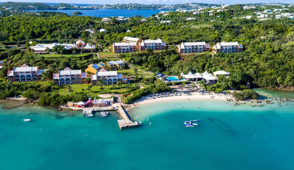 A bird's-eye view of Grotto Bay Beach Resort