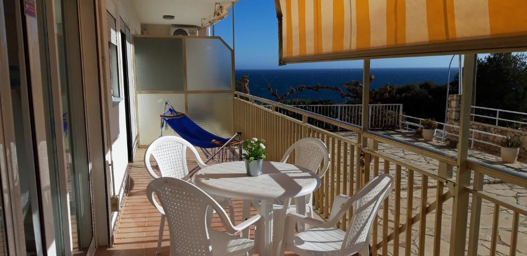 Un balcón o terraza de Apartamento en Salou-Vistas al Mar