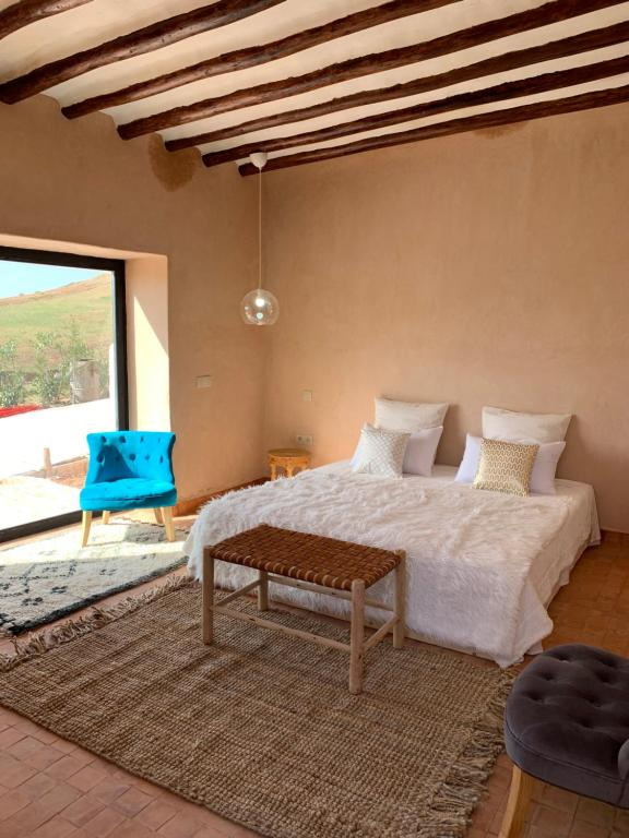 A bed or beds in a room at Villa Yasmine