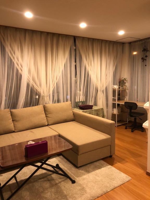 A seating area at Yokohama WORLD Family House