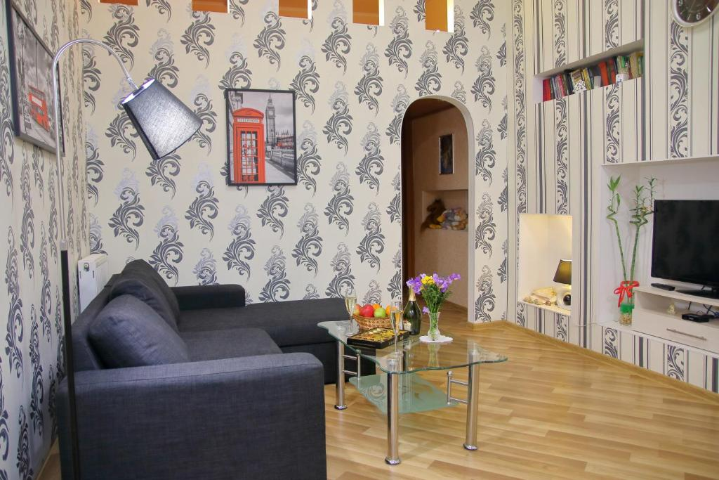 A seating area at Apartment on Pushkinskaya 16