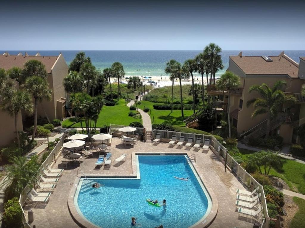 A view of the pool at Midnight Cove #714, Bayside in Siesta Key, FL or nearby