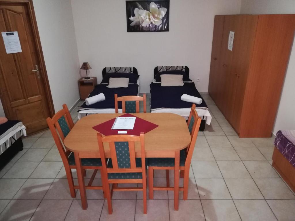 Dining area in a vendégházakat