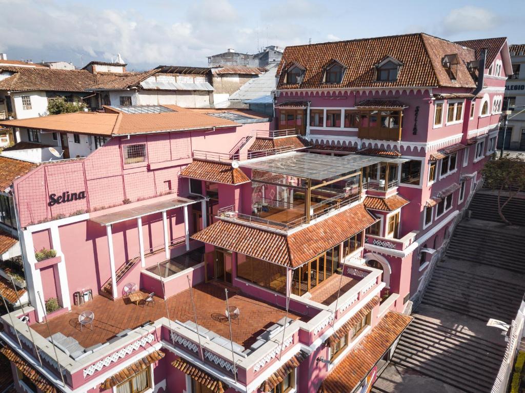 Uma vista aérea de Selina Cuenca
