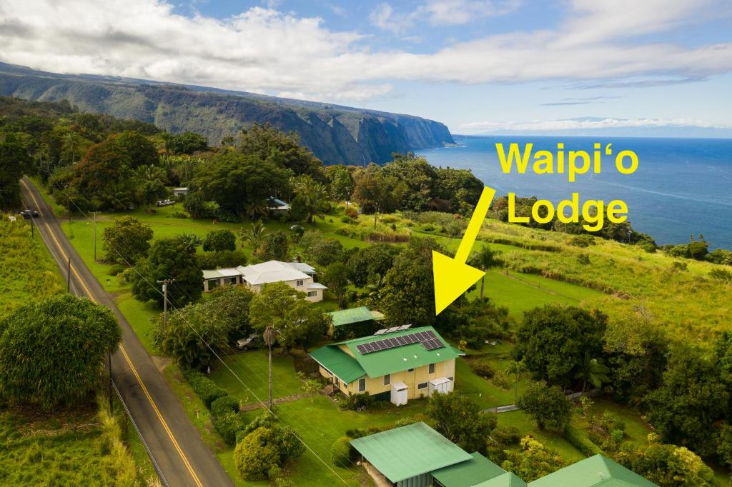 A bird's-eye view of Waipi'o Lodge