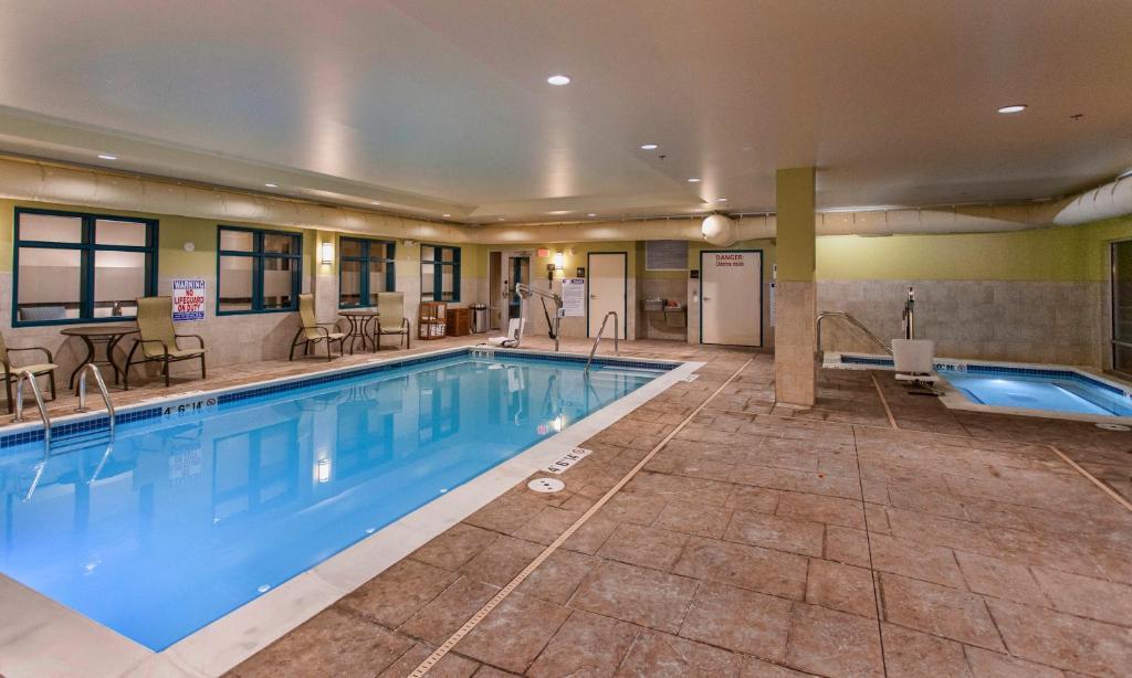 The swimming pool at or near Hampton Inn Hibbing