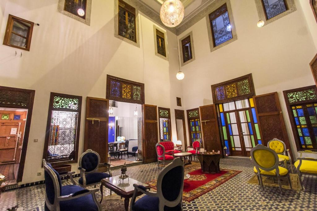 The lobby or reception area at Riad 53