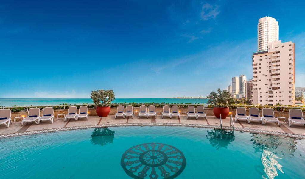 Piscina en o cerca de Hotel Almirante Cartagena Colombia