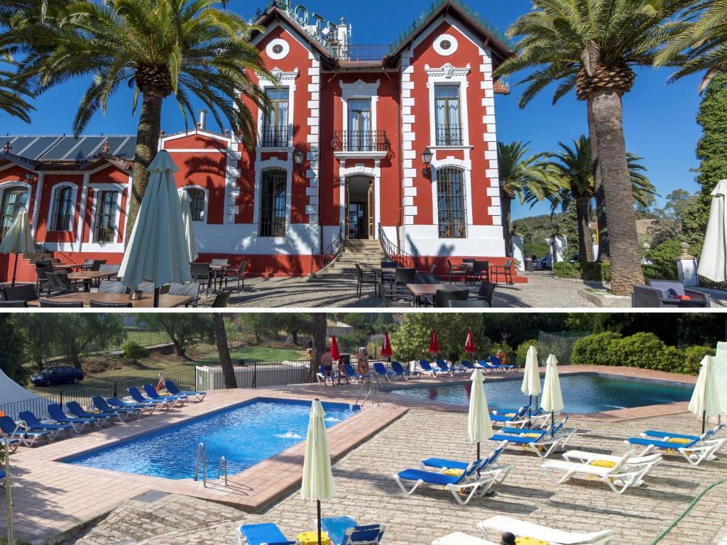 Der Swimmingpool an oder in der Nähe von Hotel Abetos del Maestre Escuela