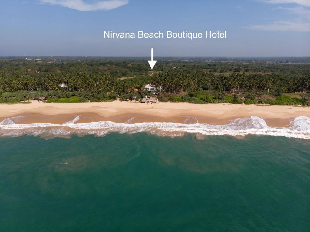 Nirvana Beach Boutique Hotel с высоты птичьего полета