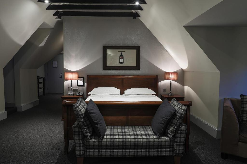 A bed or beds in a room at Hotel Du Vin Edinburgh