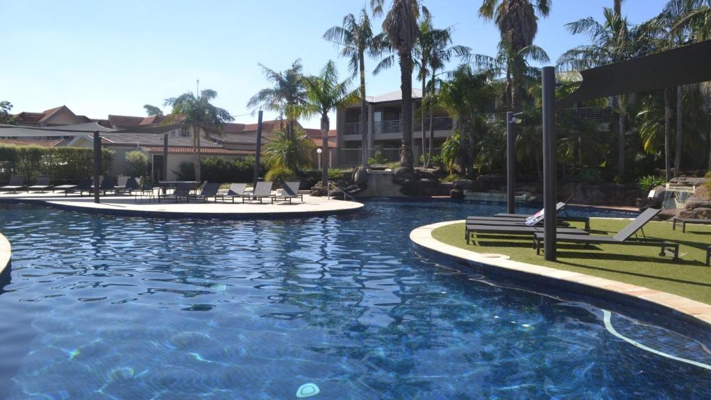The swimming pool at or near 33B Cypress Drive Mulwala