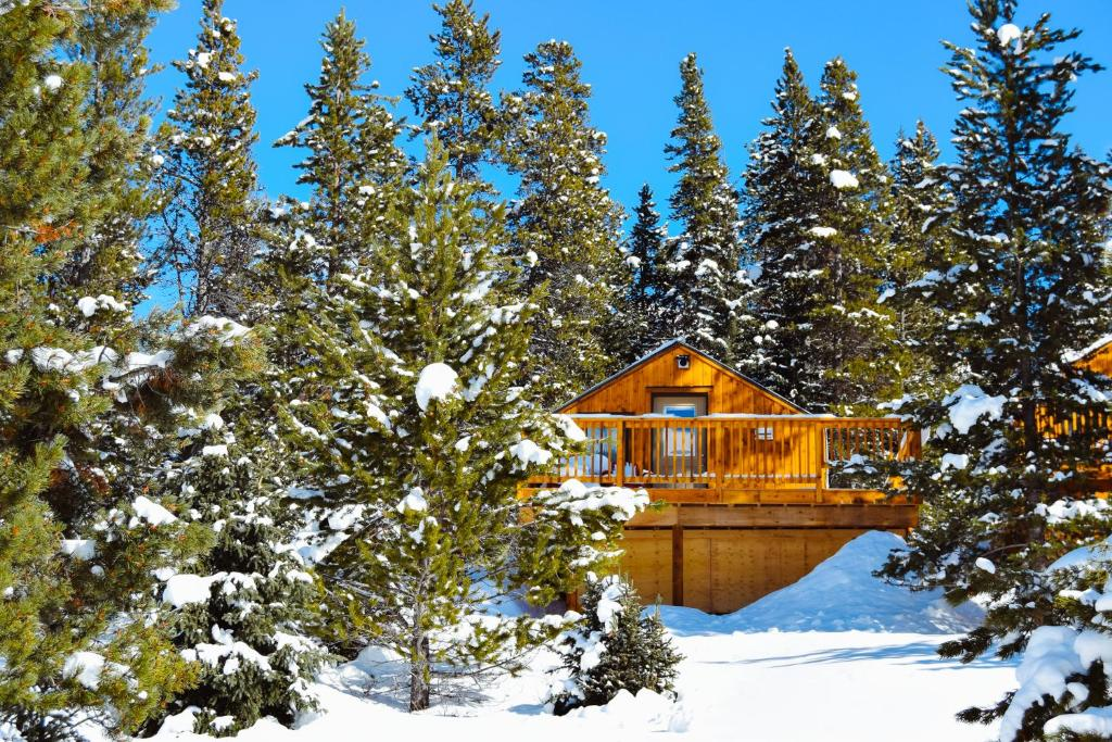 Mount Engadine Lodge during the winter