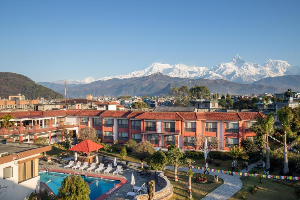 A view of the pool at Hotel Pokhara Grande or nearby