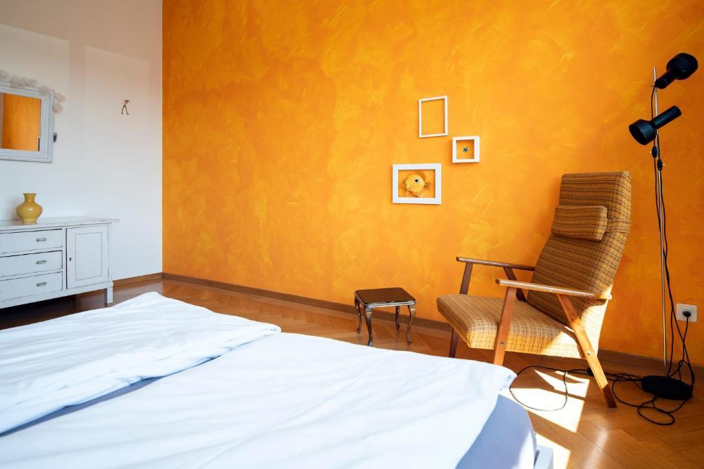 Ein Bett oder Betten in einem Zimmer der Unterkunft Bed & Breakfast Im Klee