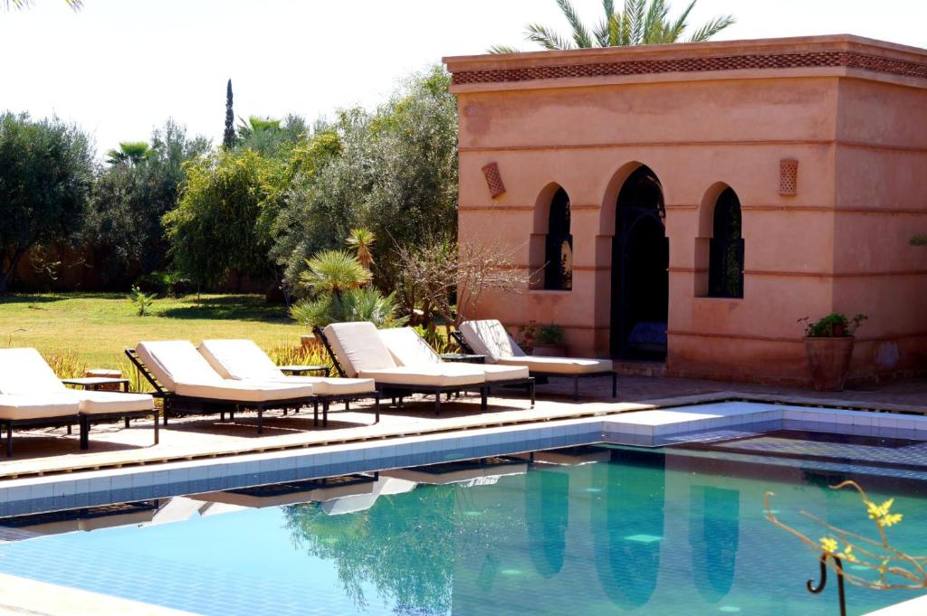 The swimming pool at or near Shahrazad Villa Marrakech