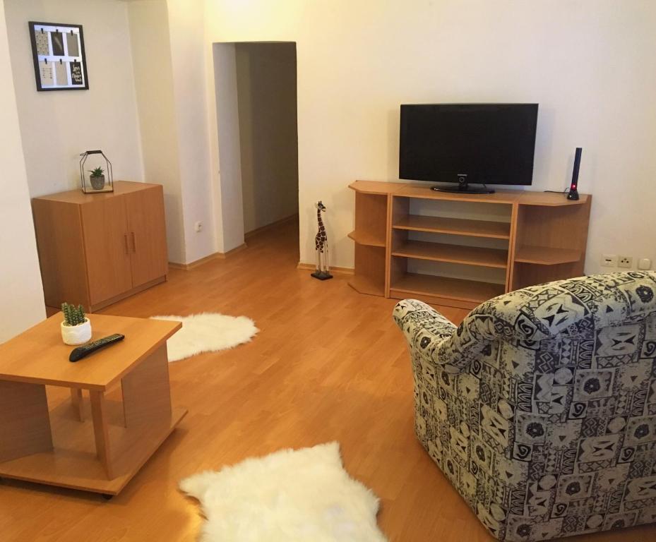 Televízia a/alebo spoločenská miestnosť v ubytovaní Comfort in the heart of Košice