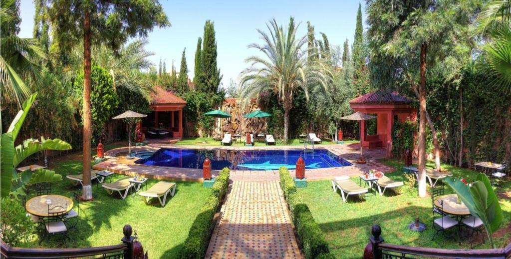 The swimming pool at or near Palais Dar Ouladna