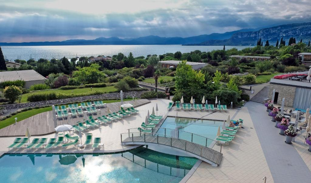A view of the pool at Parc Hotel Germano Suites & Apartments or nearby
