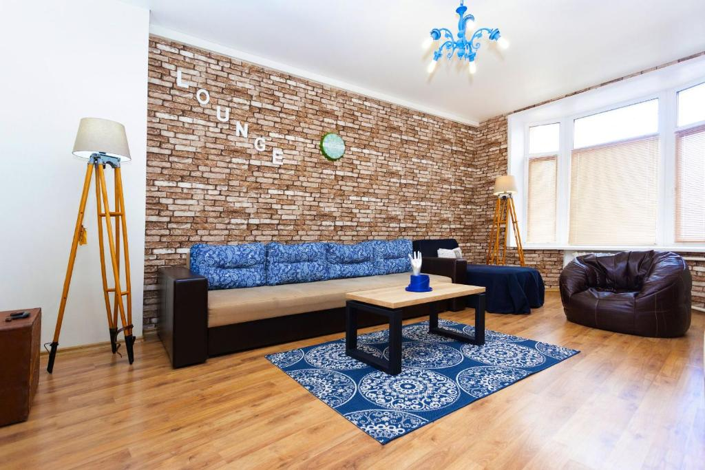 A seating area at Apartment in the center Kirova 6