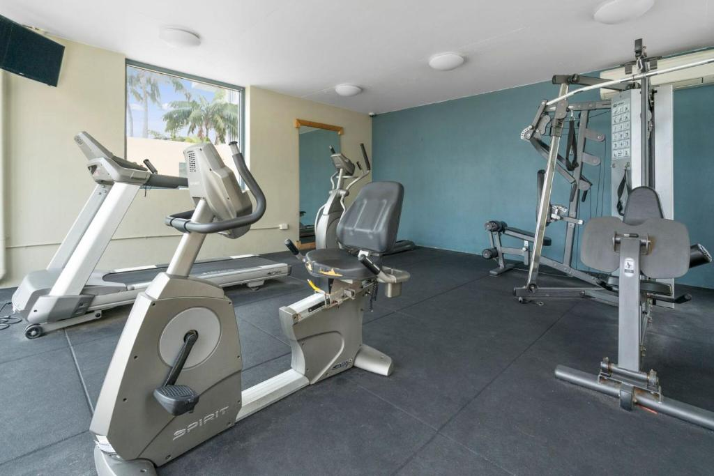The fitness center and/or fitness facilities at The Oaks Waterfront Resort, Unit 105