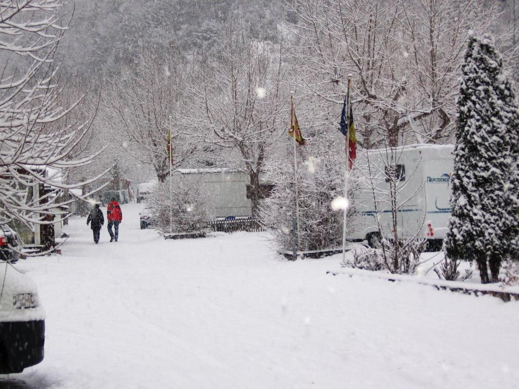 Camping Pla during the winter