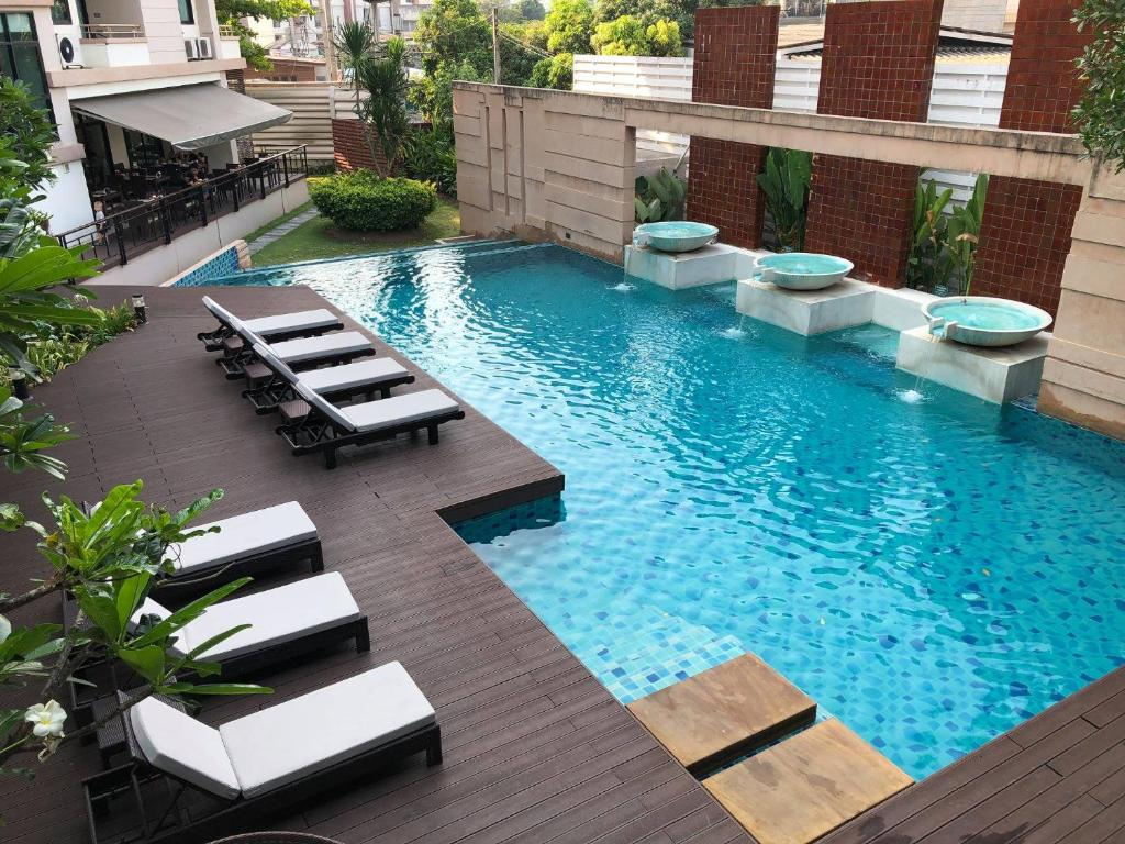 A view of the pool at The Grand Napat or nearby