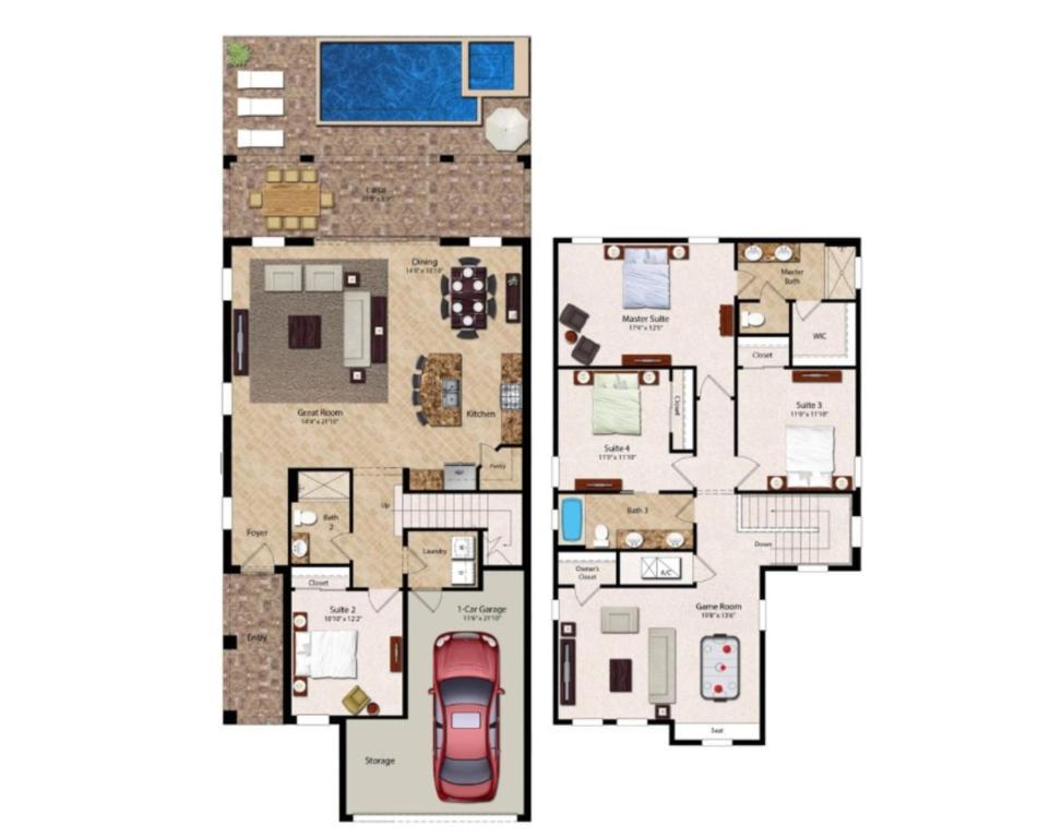 Your Family Will Love The Private Pool At Your Private Villa In Encore Resort At Reunion Orlando Villa 3008 Fl Booking Com