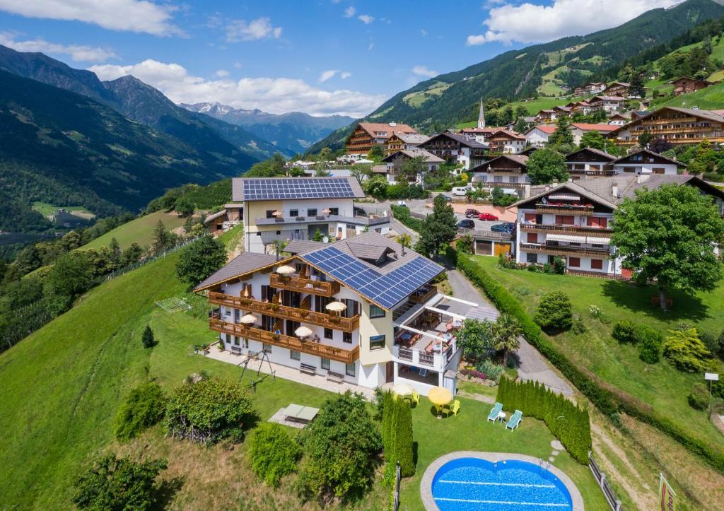 Vista aerea di Gasserhof Garni & Apartment