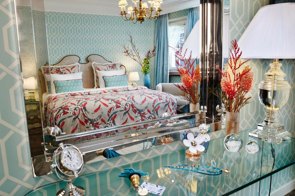 Katil atau katil-katil dalam bilik di Hotel Estheréa