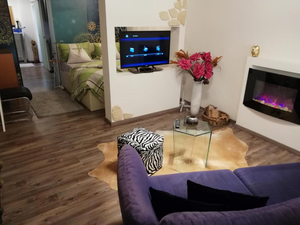 A television and/or entertainment center at Wohnung Stuttgart Mitte