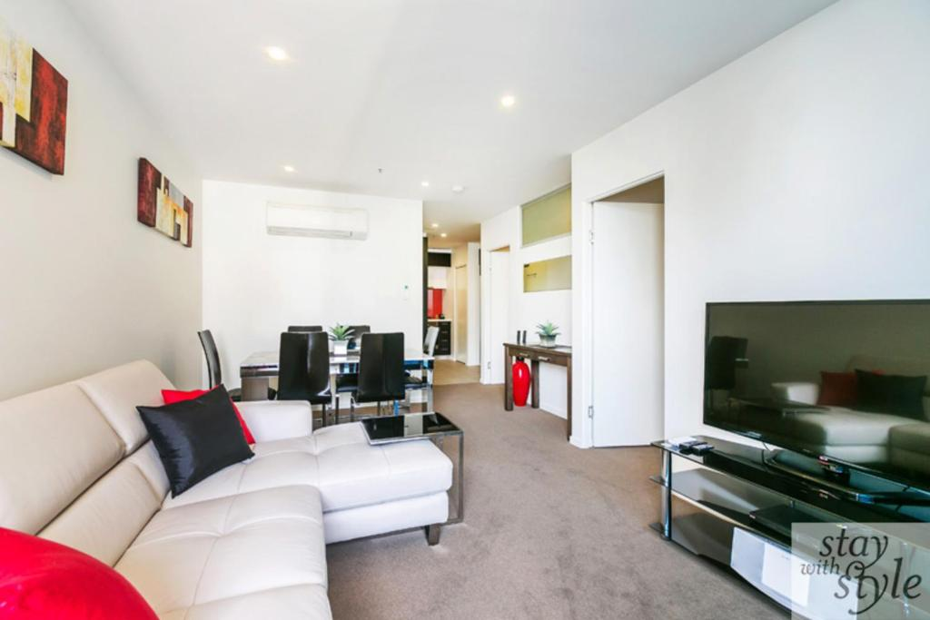 A seating area at Melbourne Star - central city location - sleeps 5